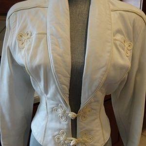 Vintage Leather Jacket/Pant Set Michael Hoban 3/4